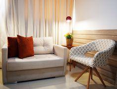 Um lugar para SER. Detalhe de Sala de atendimento de psicoterapia