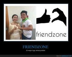 #OFICIAL. La friendzone tiene logo - El mejor logo oficial posible   Gracias a http://www.cuantarazon.com/   Si quieres leer la noticia completa visita: http://www.estoy-aburrido.com/oficial-la-friendzone-tiene-logo-el-mejor-logo-oficial-posible/