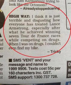 Lance Armstrong on Drugs #funny #lol Click the photo to see more!