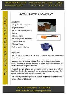Tupperware Micro Vap, Tupperware Recipes, Micro Onde, Afternoon Snacks, Deserts, Cooking, Cake, Food, Sweet Recipes