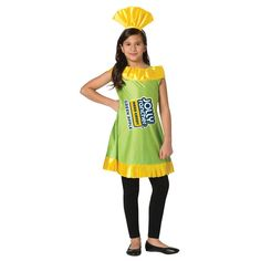 Do you want to be a sweet treat this Halloween? Get wrappedup in this ultra-cute awesome Jolly Rancher apple costume.Go solo or with a group of the girls. Pick the flavorfulcolor that suits your character best! Fits adult sizes 7-10. Care instructions: Hand wash cold water with a mild soap. Do not Bleach. Do not iron. Do not dry clean. Color: green. Gender: female. Halloween Costumes For Bffs, Candy Costumes, Costumes For Teens, Girl Costumes, Halloween Kids, Costume Ideas, Group Costumes, Female Costumes, Homemade Halloween