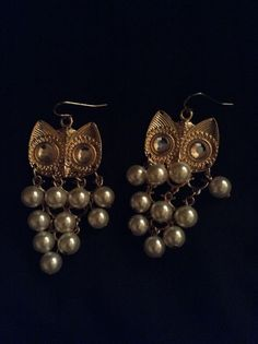 Owl earrings to die for!! Luv it!!