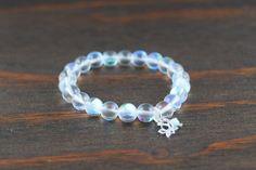 Women's Lotus Flower Bracelet - Women's Hologram Quartz Bracelet - Women's Beaded Bracelet