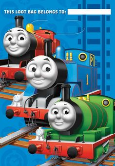 """Thomas the Tank Treat Bags Includes (8) themed treat bags. Plastic; 9"""" high x 6.5"""" wide. This is an officially licensed Thomas the Tank product. Weight (lbs) 0.33 Length (inches) 6 Width (inches) 6.75"""