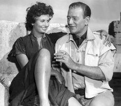 Sophia Loren & John Wayne