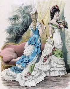 historia del traje: 33. Romanticismo (VIII): el vestido sirena 1877-1883