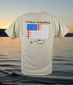 Old Glory Fly Rod Pocket Fishing T-Shirt.  A true heavy weight, the durable 100% ring spun cotton resists both fading and shrinking.  These Pocket T-shirts will quickly become your favorite.