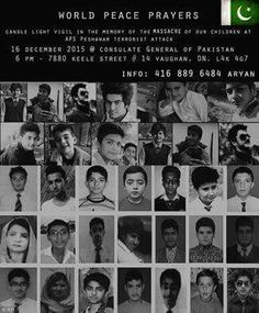 On 16 December 2014, seven gunmen affiliated with the Tehrik-i-Taliban (TTP) conducted a terrorist attack on the Peshawar Army Public School