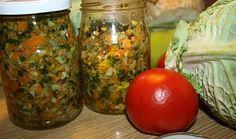 Zelenina na zimu Krabi, Mason Jars, Grains, Homemade, Vegetables, Food, Home Made, Veggies, Essen