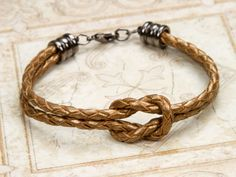 Lovely Leather bracelet on Artbeads Bracelet En Cuir Diy, Leather Lace Bracelet, Leather Bracelet Tutorial, Leather Jewelry, Beaded Jewelry, Leather Cuffs, Leather Earrings, Leather Cord, Metal Jewelry