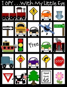 (Might need this for our upcoming car trip.)  (If I remember I pinned it.)  (And remember to print it out.)  (I probably won't remember it is what I'm saying.) Car bucks, tic tac toe, I spy, Slug Bug, Alphabet search...lots of cute printables!