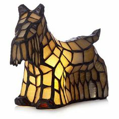 Tiffany Style Scottish Terrior Novelty Lamp