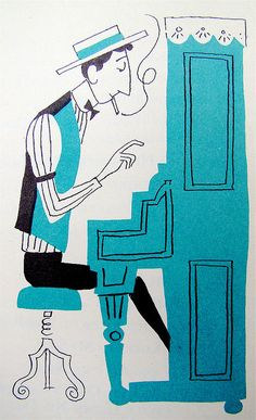 """From """"The Fireside Book of Favorite American Songs,"""" Illustrated by Aurelius Battaglia. 1952."""