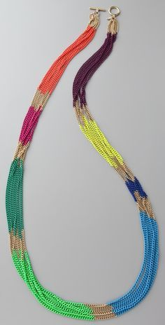 Lee Angel Jewelry Multicolor Chain Necklace | SHOPBOP