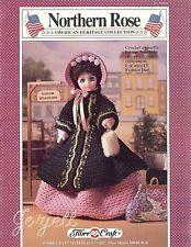 "Northern Rose, Fibre-Craft crochet patterns for 15"" fashion dolls"