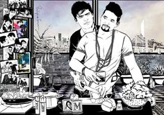 From Tumblr phildrawsfanart.... check him out if you love Malec!