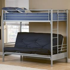 Twin Over Futon Bunk Bed Multiple Colors For Isaac S Room 182 Kids Bedroom Ideas Pinterest And Twins