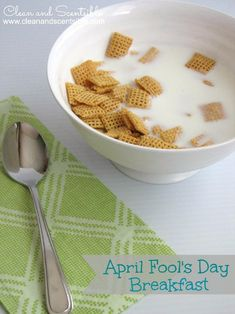Fun April Fool's Day breakfast.  The kids will love this!