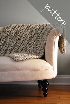 Crochet PATTERN Throw Blanket Cozy by AshleyLillisHandmade