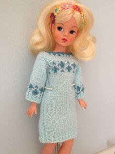 Hand knitted Sindy jumper dress Jumper Dress, Knit Dress, Vintage Girls, Vintage Toys, Tammy Doll, Sindy Doll, Knit Wear, Crochet Doll Clothes, Needlecrafts