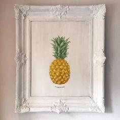 Weer eens een penseel vastgehouden  #selfmade #painting #ananas #ananasart #schilderij #acrylic #acryl #fruit #fruits #art #homemade #homestyle