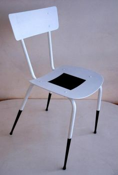 "Interesting contemporary upcycle of vintage school chair. Recycled chair ""Malevich"""