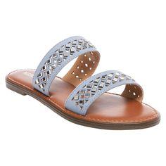 Women's Mina Slide Sandals Merona - Blue 5.5