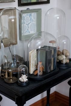 Decorating Under Glass With Cloches And Domes - decoration,wood,wood working,furniture,decorating The Bell Jar, Bell Jars, Cage Deco, Cloche Decor, Apothecary Jars, Glass Domes, Glass Dome Display, Glass Jars, Display Case