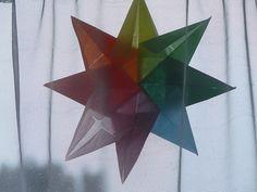 Waldorf Crafts : Child Friendly Tissue Paper Window Stars