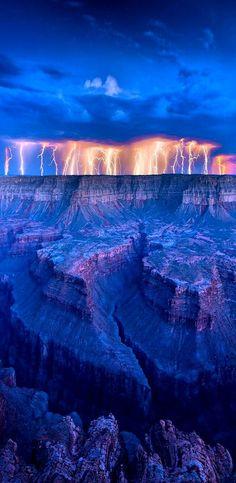 Lightning at Grand Canyon, Arizona, USA