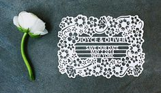 save the date, laser cut, cut out, invitation, cameo, paper goods