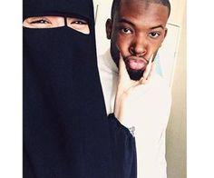 Interracial Beautiful Muslim couple