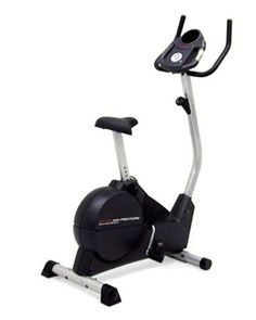 Reebok RT 245 Upright Exercise Bike. Silent magnetic resistance choose from 10 intensity levels with this silent resistance system. Always stay cool and invigorated with an adjustable, 2-speed coolaire workout fan in the console. Target pacing coach is a convenient display helps you maintain the perfect pace during your workout. This high-tech, adjustable seat incorporates a gel layer. Water bottle holder.