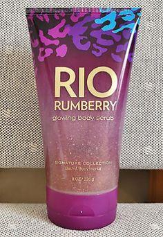 cool Bath & Body Works 8oz. RIO RUMBERRY Glowing Body Scrub - For Sale