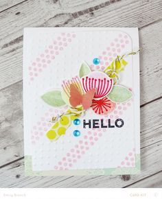Floral Hello Card by BranchOutDesigns at @Studio_Calico - Emily Branch #SChellohello