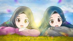 Korean Anime, Islamic Cartoon, Hijab Cartoon, Drawing Quotes, Muslim Girls, Art Tutorials, Cartoon Art, Kawaii Anime, Art Girl