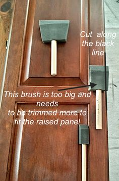 how to paint raised panel kitchen cabinet doors with General Finishes paint