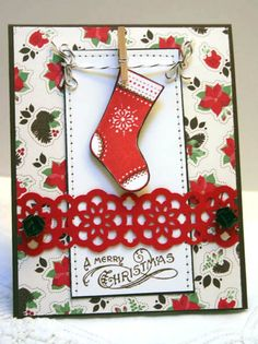 Stampin' Up! AUG11VSNA Stitched Stocking