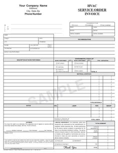 19 best hvac invoice templates images on pinterest invoice