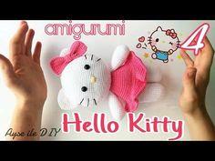 (Amigurumi) Hello Kitty Kedi Yapımı 4. Bölüm - Kol, Fiyonk, Birleştirme, Örgü Kedi 4/4 - YouTube