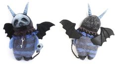 AbysMal the Grimmblee a one of a kind creepy-cute Gothic Soft Sculpture, Sculptures, Crow Skull, Clay Faces, Creepy Cute, Black Felt, Little Monsters, Cute Creatures, Little Star