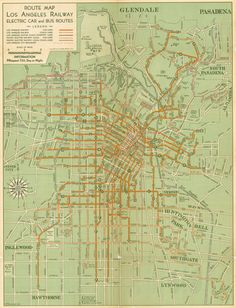 Track map of New Orleans Public Service Inc streetcar lines 1945