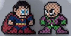Superman vs Lex Luthor perler beads by groundhog7s