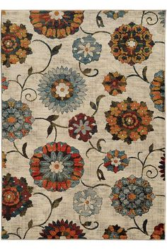 Margot Area Rug - Machine-made Rugs - Synthetic Rugs - Floral Rugs | HomeDecorators.com
