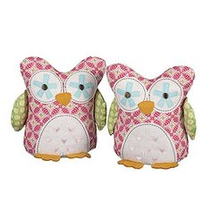 Lolli Living Poppy Seed Bookends   Fuchsia Owl
