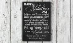 Digital Valentine's Day Chalkboard by EverburgPhotography on Etsy