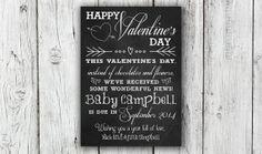 Digital Valentine's Day Chalkboard by EverburgPhotography on Etsy