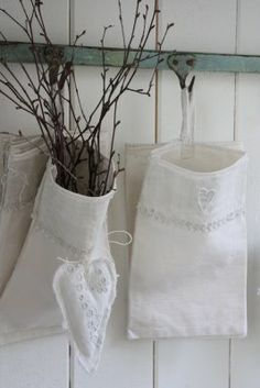These would be lovely made with recycled vintage linens