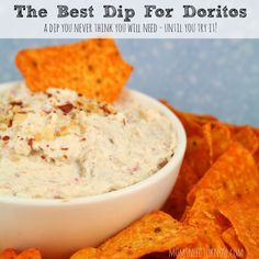 You never think that you really need to dip Doritos in anything...until you try this dip for Doritos recipe! Great for your next football party or any event