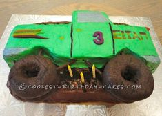 Cute Monster Truck On The Move... Coolest Birthday Cake Ideas